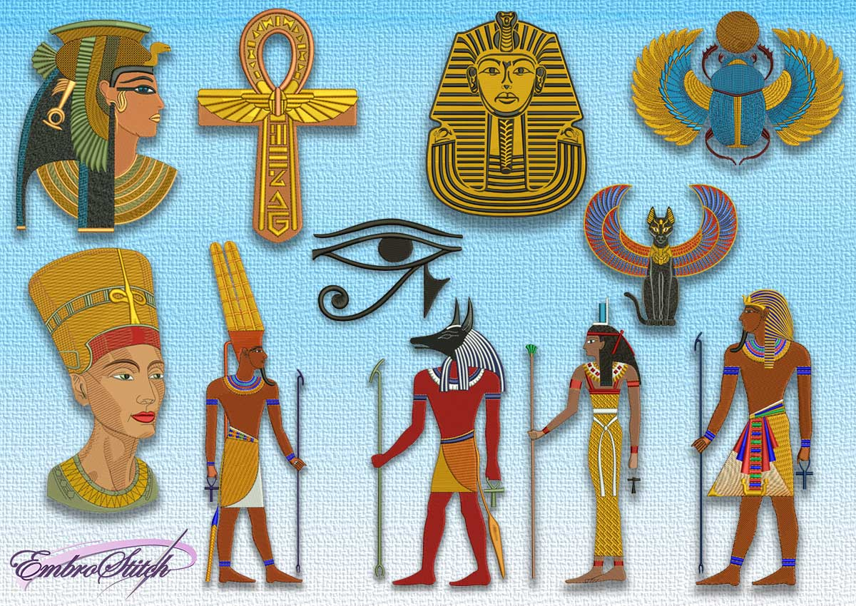 Pack of Ancient Egyptian embroidery designs