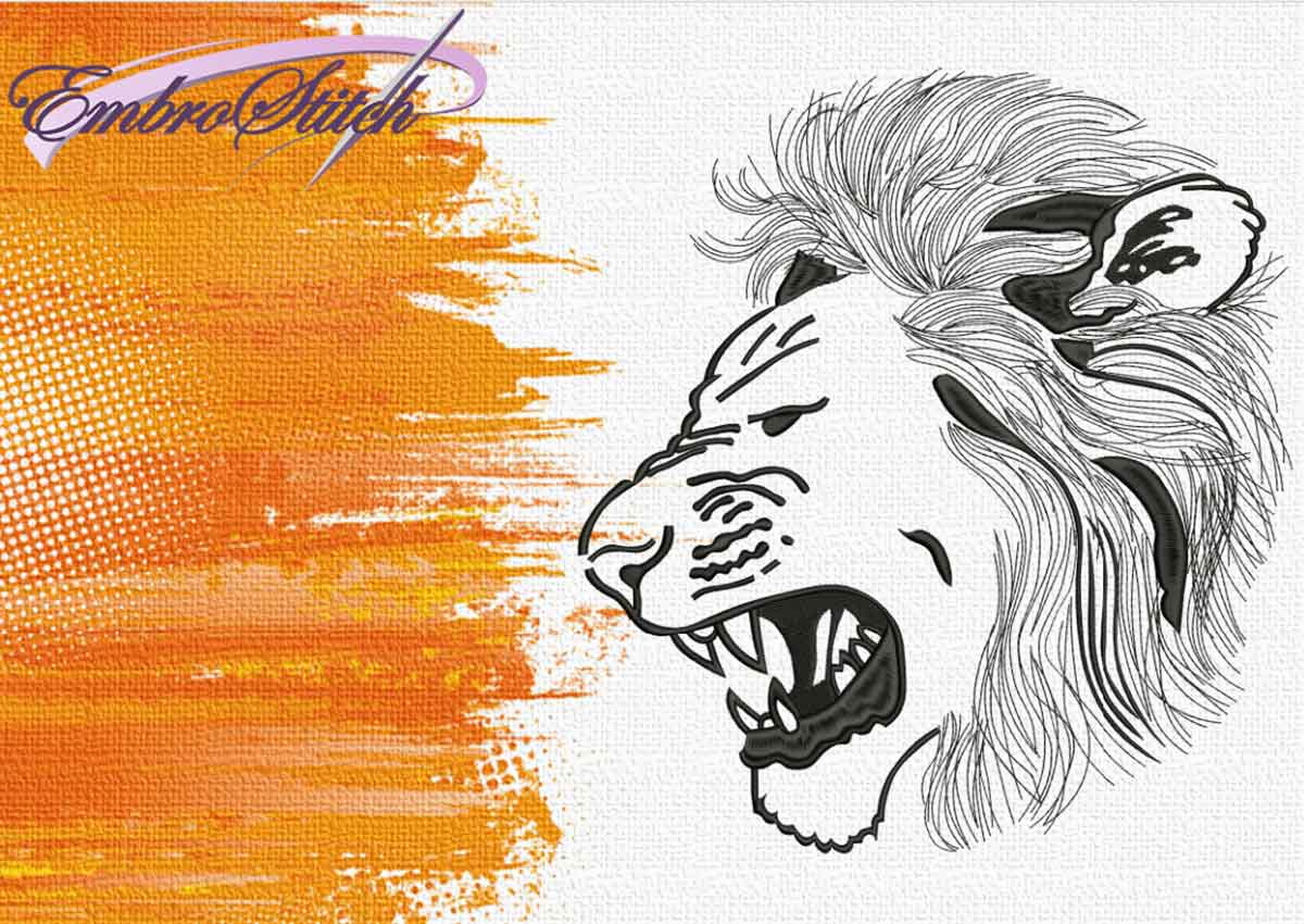The embroidery design Angry Leo by EmbroStich