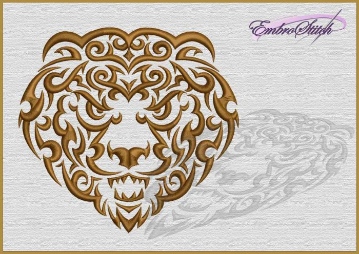 The embroidery design Angry lion
