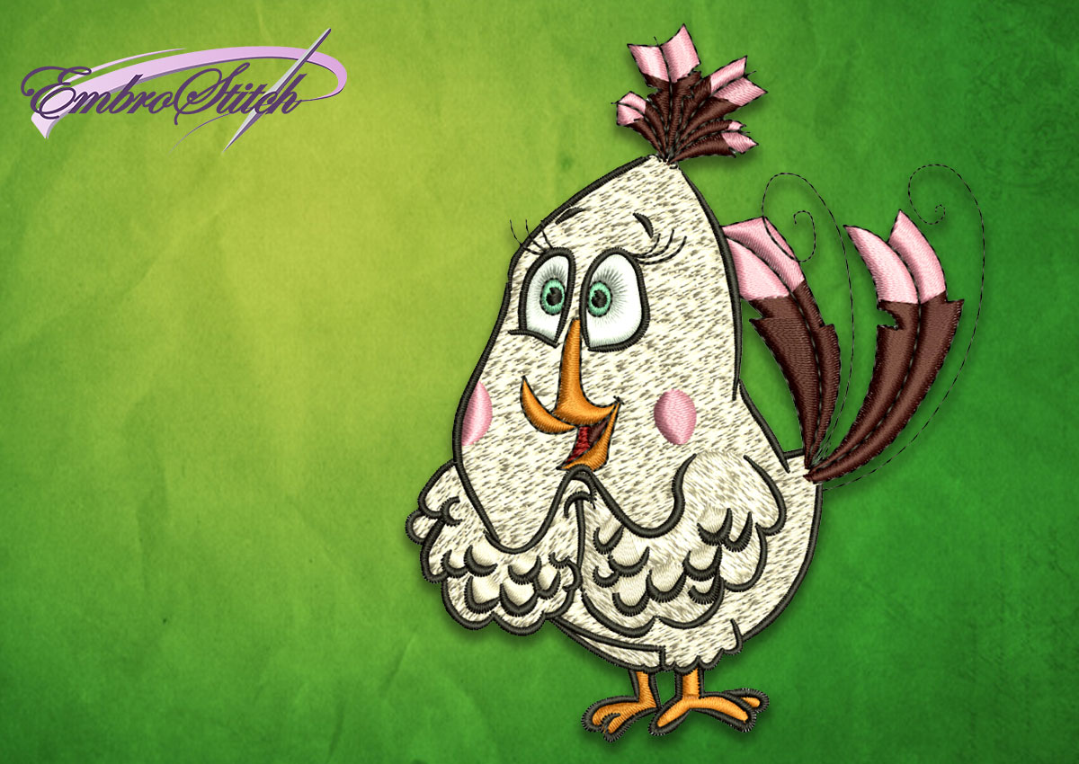 The embroidery design Matilda from Angry birds movie will bring nice mood to everyday life.