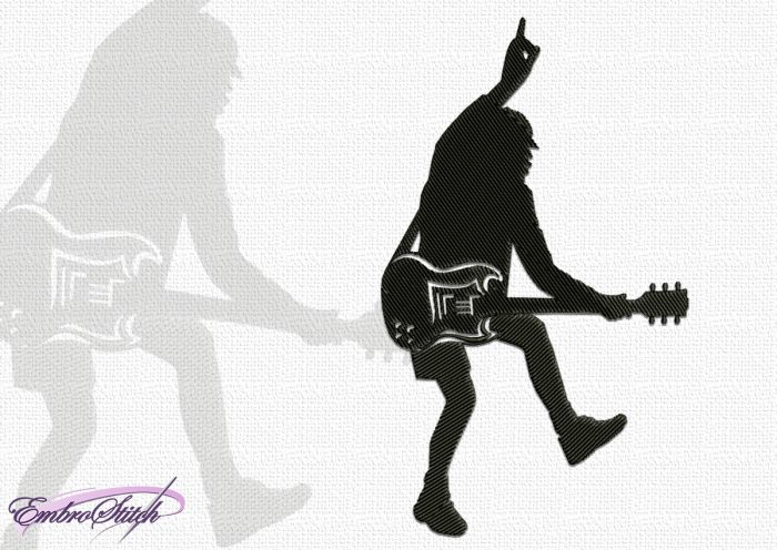 The embroidery design Angus Young is simple, but stylish design