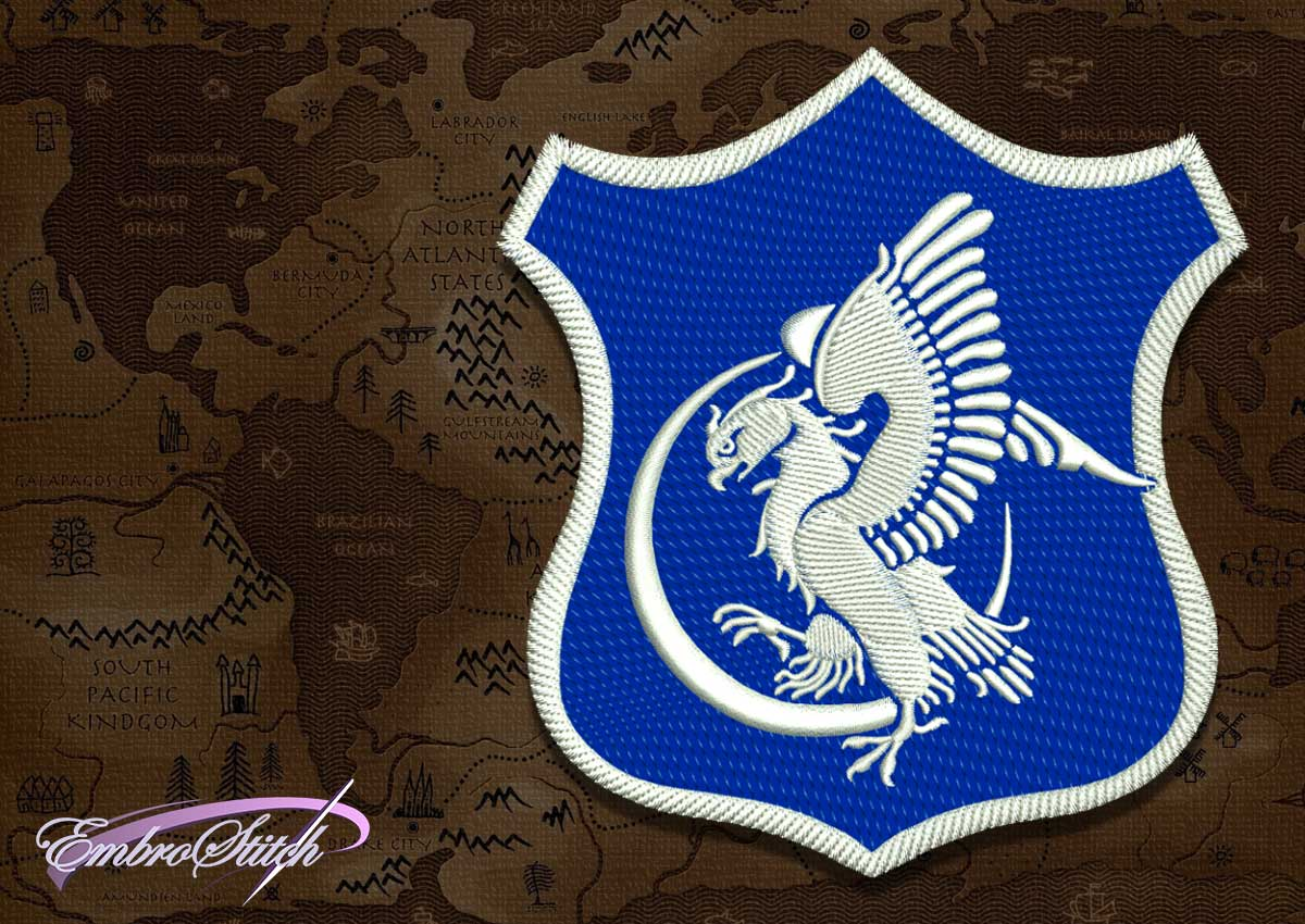 The embroidery design Patch Applique Arryn shield from Game of Thrones was created in Embrostich Studio.