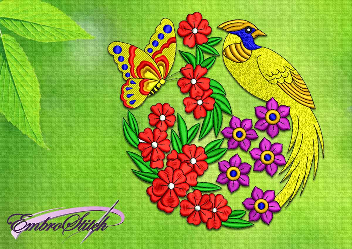 Garden Embroidery Designs redwork garden blocks designs by juju machine embroidery designs Bird In The Garden Embroidery Design 3 Sizes
