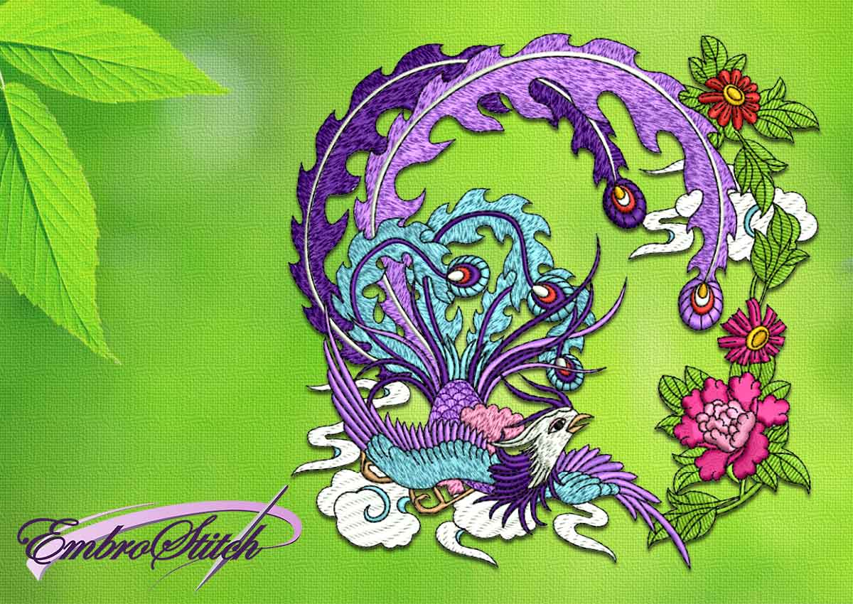 Garden Embroidery Designs hover to zoom Bird Of Dream Embroidery Design 3 Sizes