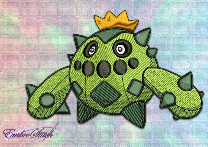 The embroidery design Cacnea Pokemon will look nice on variouse apparel