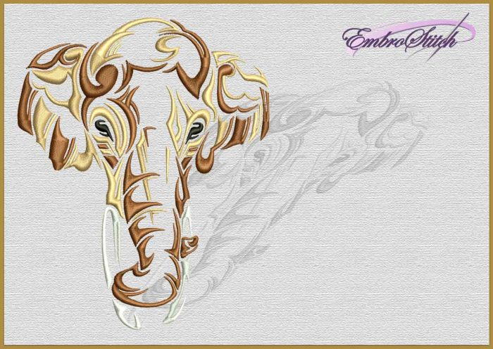 The embroidery design Calm Elephant