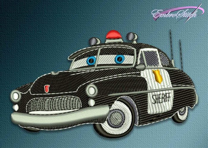 The embroidery design Car Sheriff