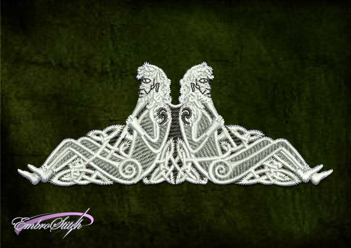 File with the embroidery design Celtic twin brothers contains 8 embroidery formats.