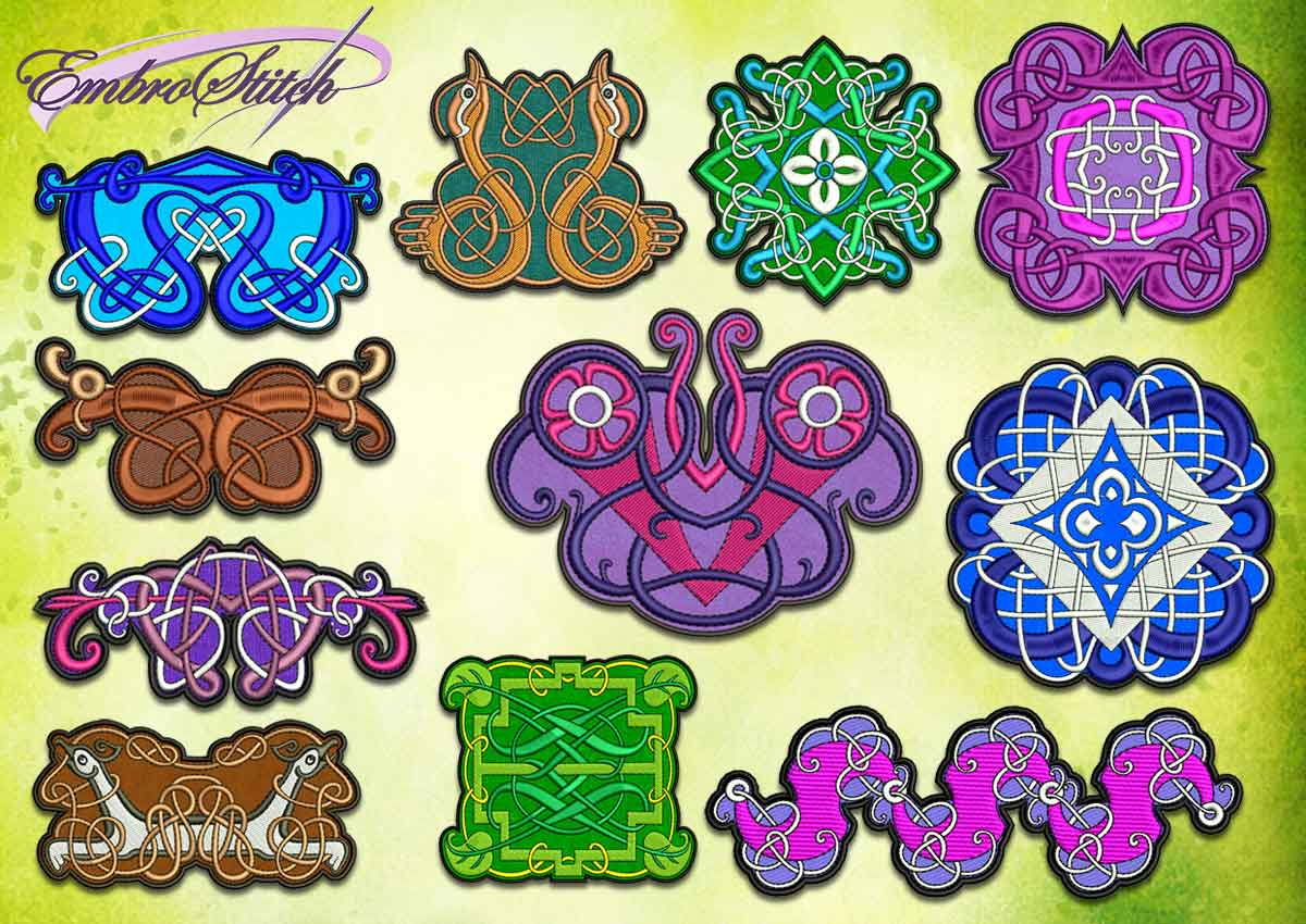 celtic symbols collection embroidery designs embrostitch