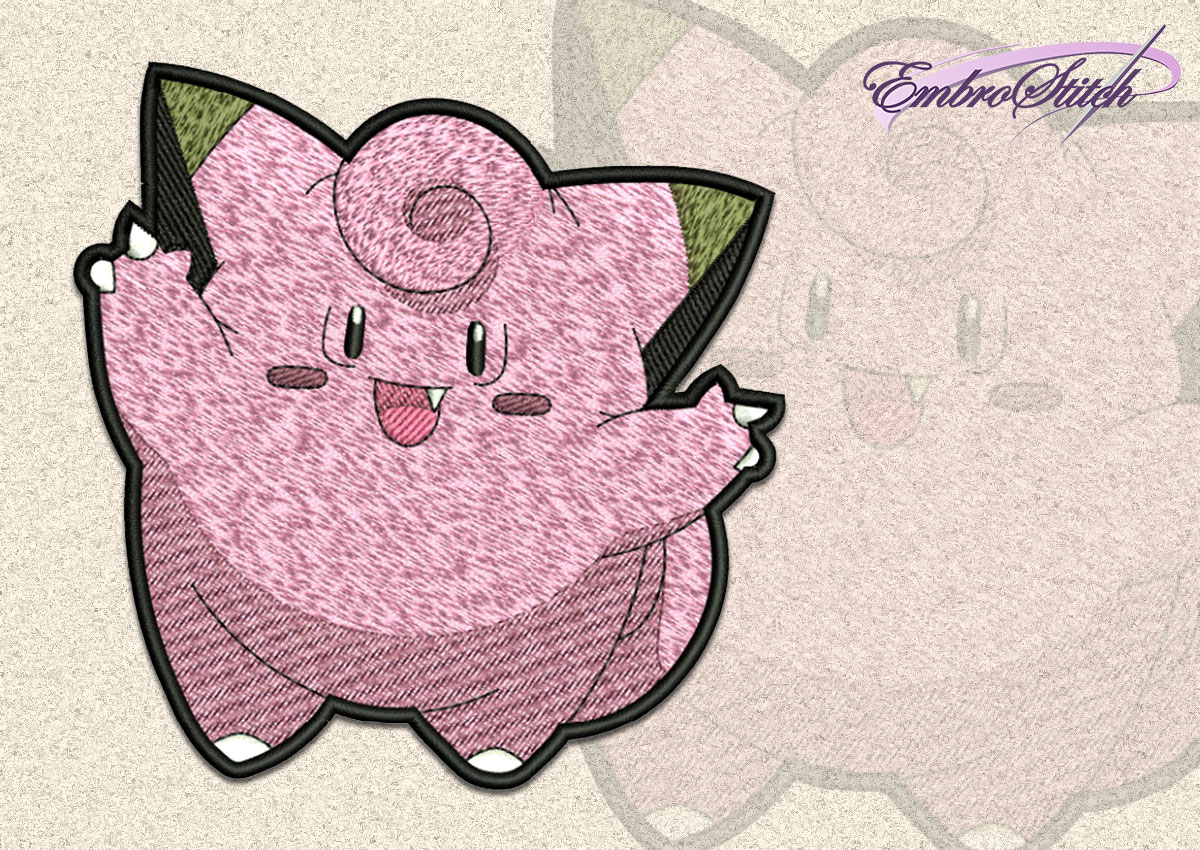 The embroidery design Clefairy Pokemon