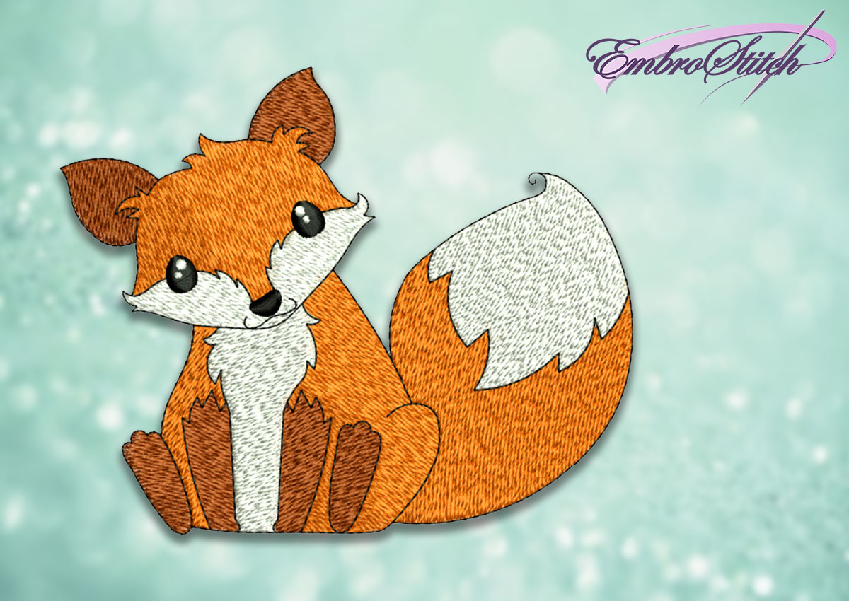 The embroidery design Curious fox