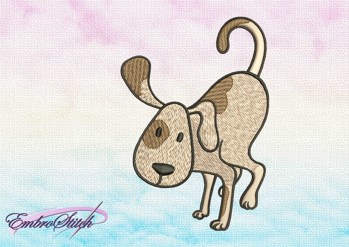 "The embroidery design Cute Dog in Baka Dhyanasana depicts well known yoga ""crow pose"" pose."