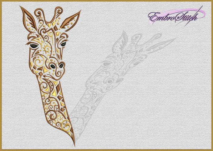 The embroidery design Cute Giraffe