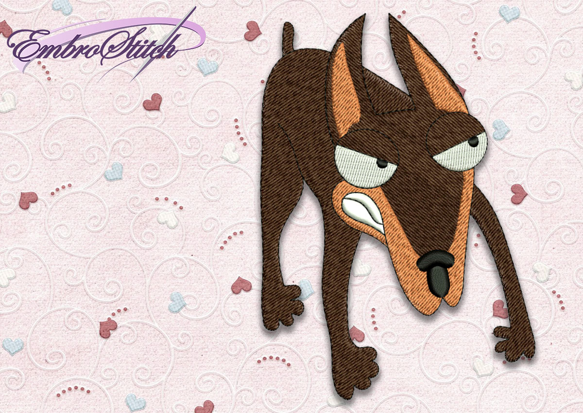 The high quality embroidery design Dog Doberman