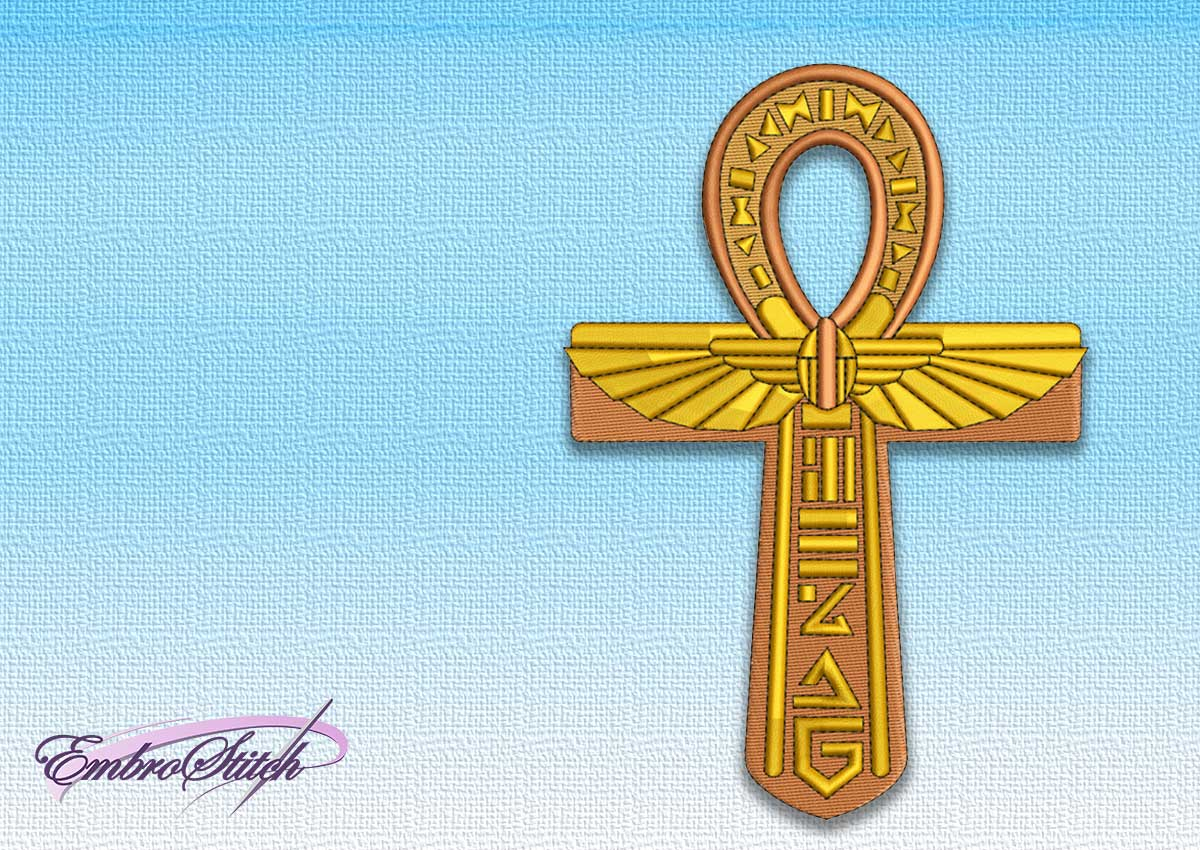The embroidery design Egyptian Cross Ankh