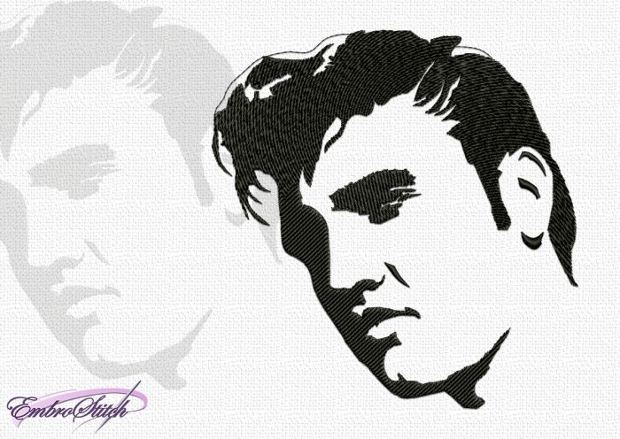 The embroidery design Elvis Presley, also known simply as King of rock and roll