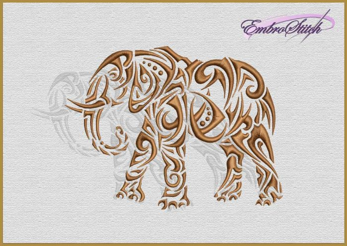 The embroidery design Ethnic Elephant