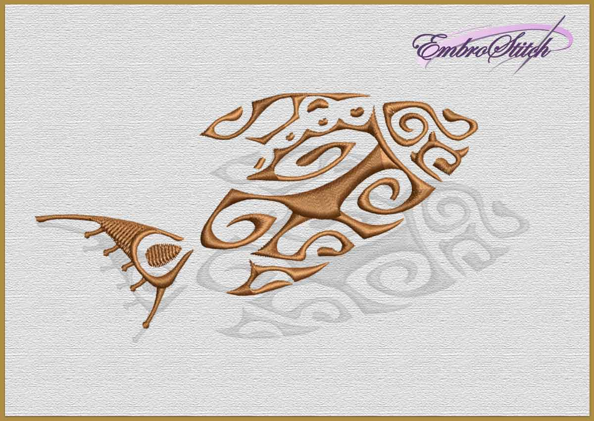 The embroidery design Ethnic Fish