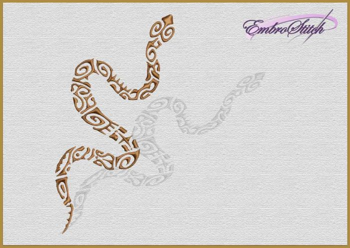 The embroidery design Ethnic Snake
