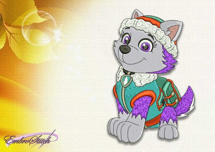 The embroidery design Dog Everest from Paw patrol