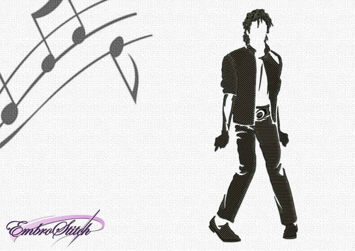 The embroidery design Famous Michael Jackson