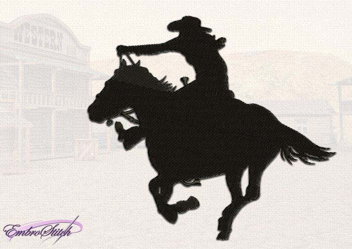 The embroidery design Fast Cowboy will take you to western world