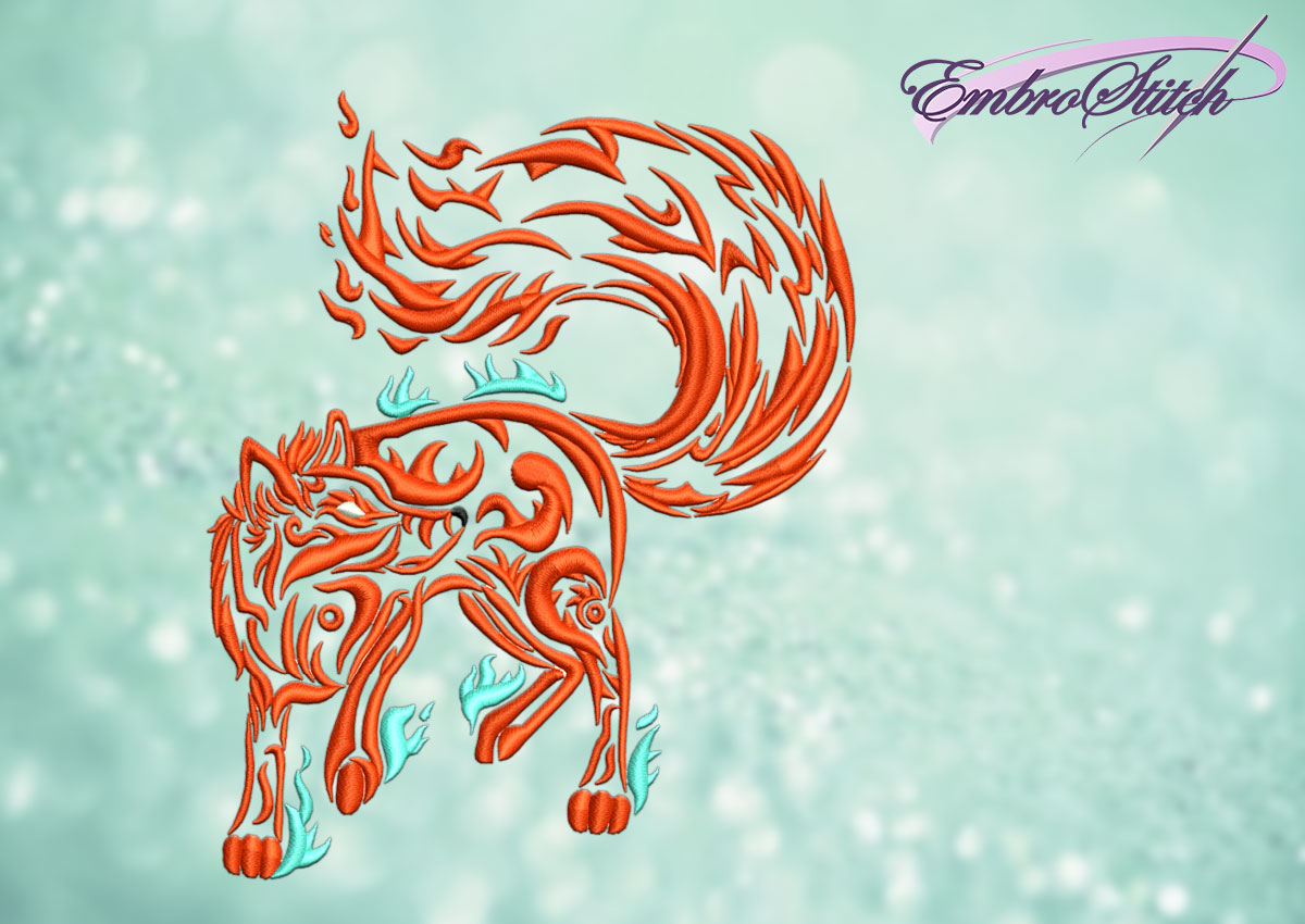 The embroidery design Fiery Fox