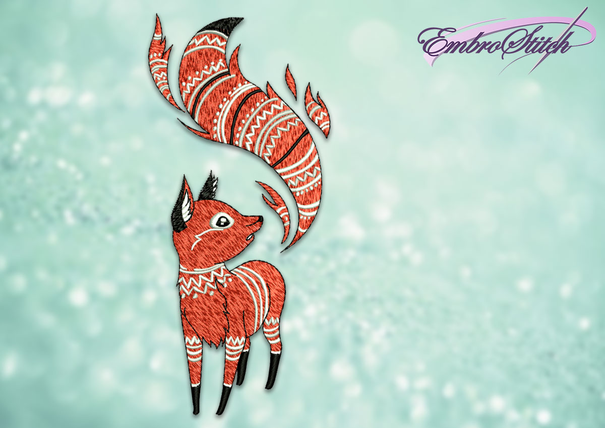 The embroidery design Flamy fox