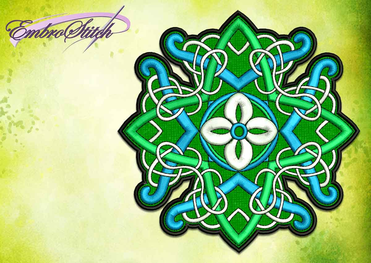 The embroidery design Floral Celtic Pattern