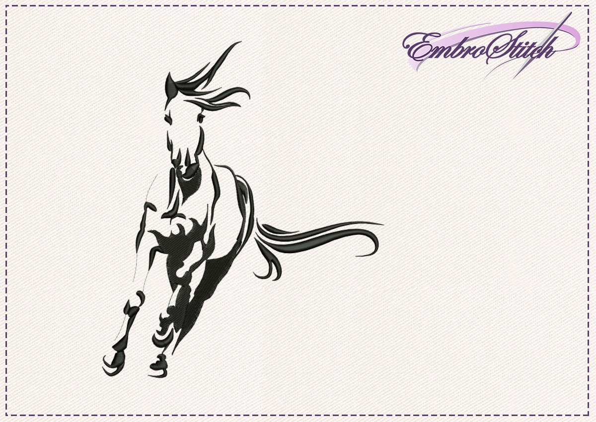 The embroidery design Galloping horse