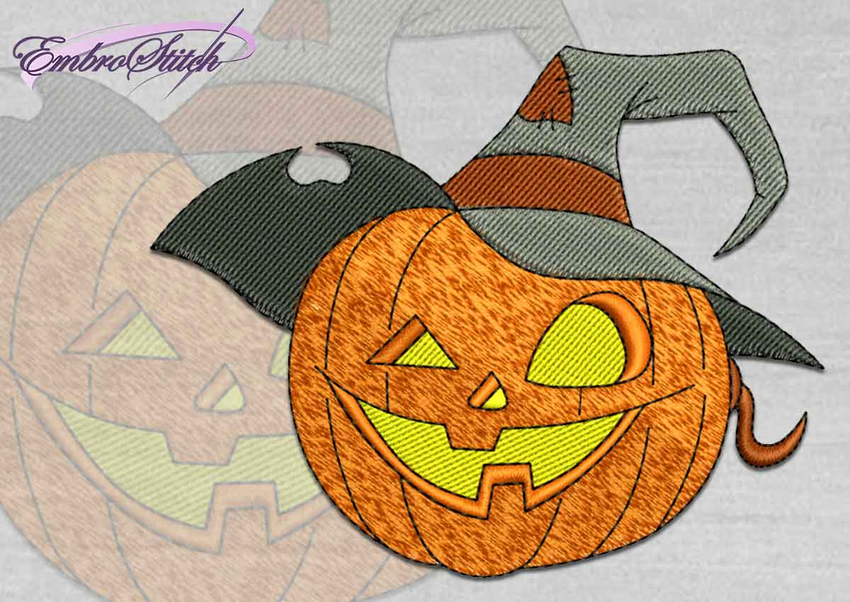 The high quality Halloween embroidery design Jack Lantern