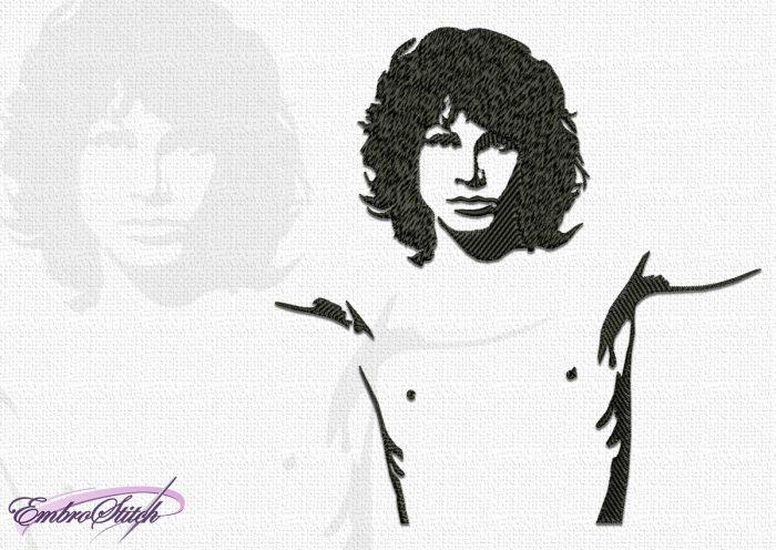 The embroidery design Jim Morrison was created and tasted in EmbroStich Studio