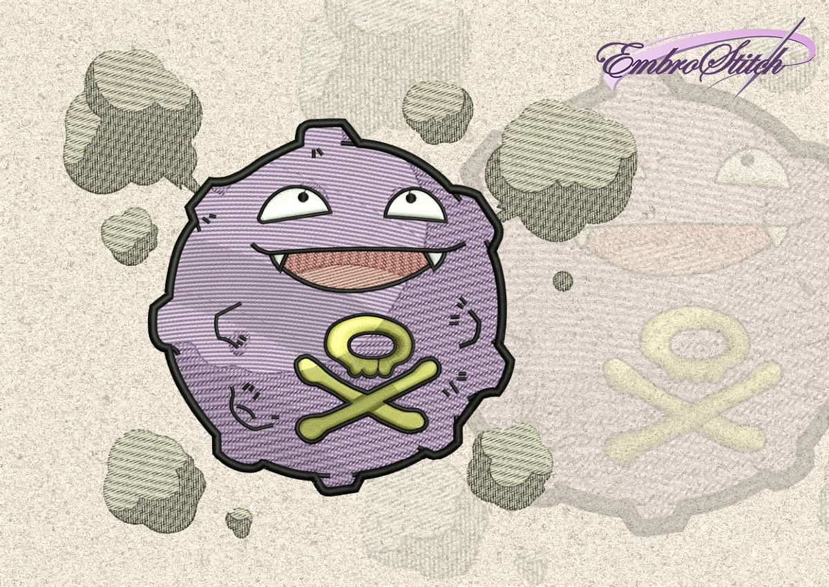 The embroidery design Koffing Pokemon
