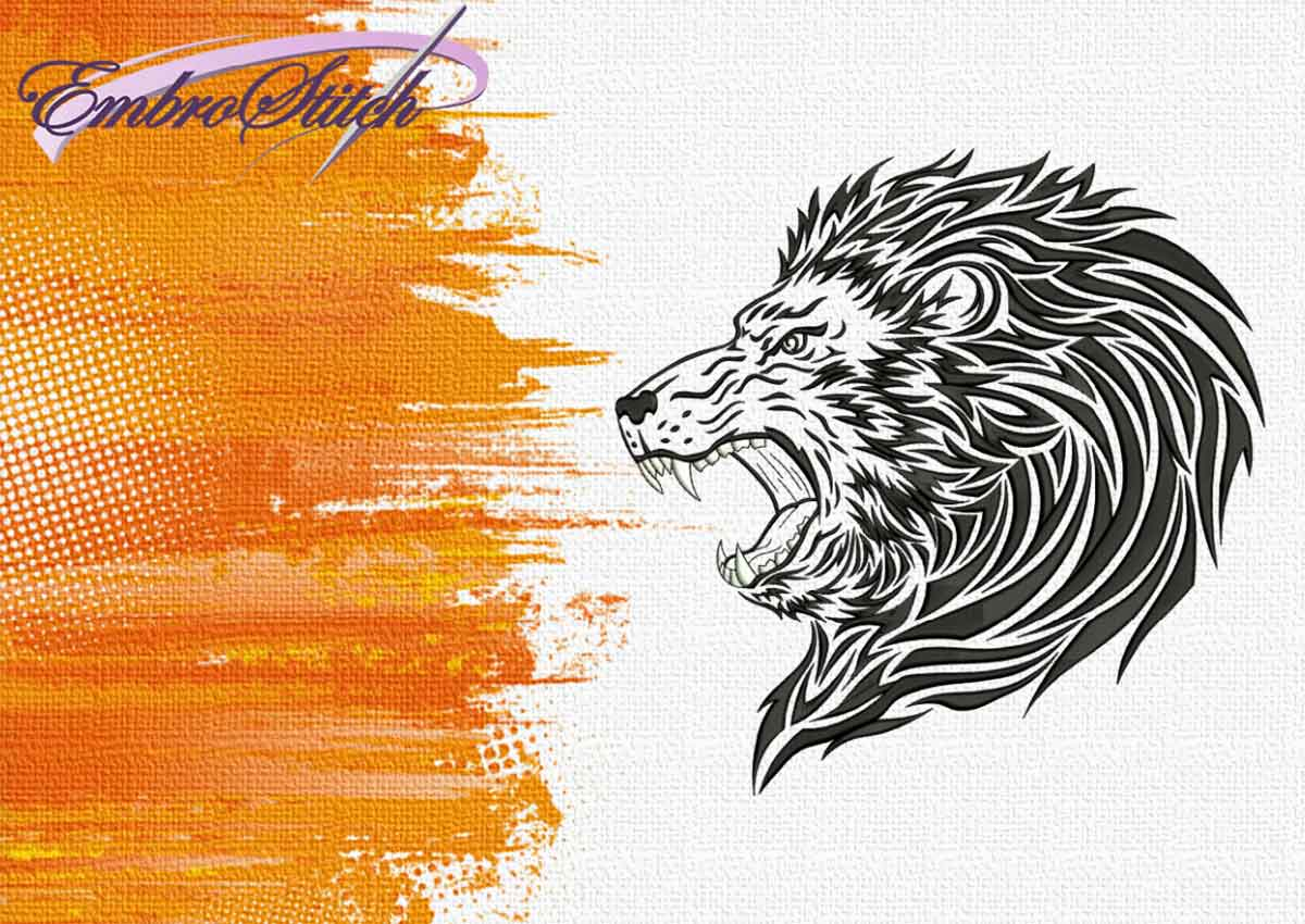 The embroidery design Lions roar by EmbroStich