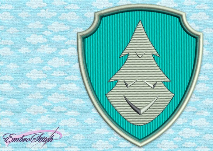 The embroidery design Paw Patrol Logo of Everest, who is a mountain ranger