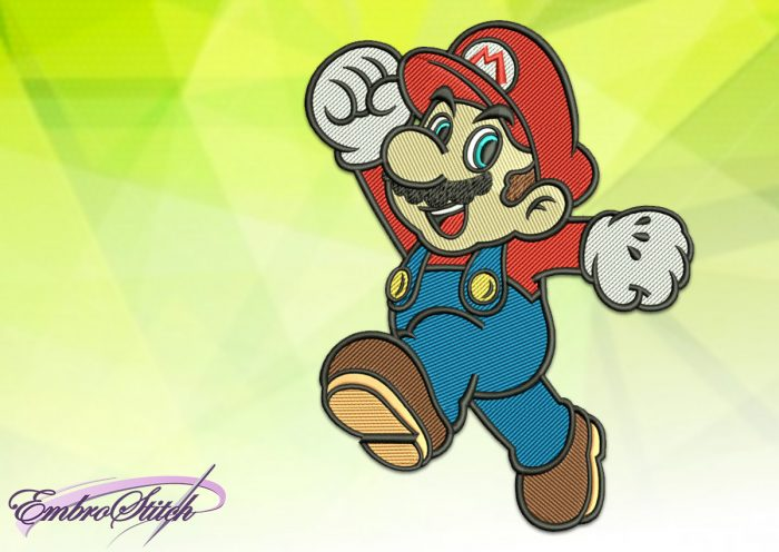 The embroidery design Mario was created and tasted in EmbroStich Studio