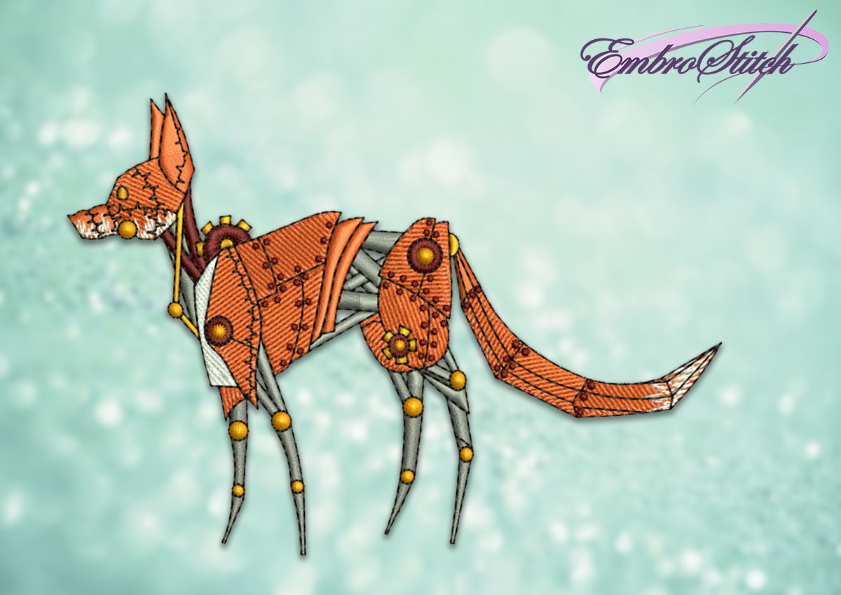 The embroidery design Mechanical fox