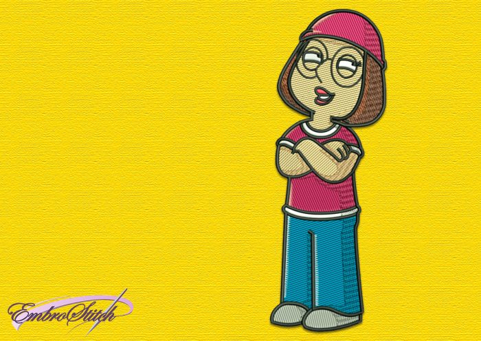 The embroidery design Meg Griffin is simple and easy to work with