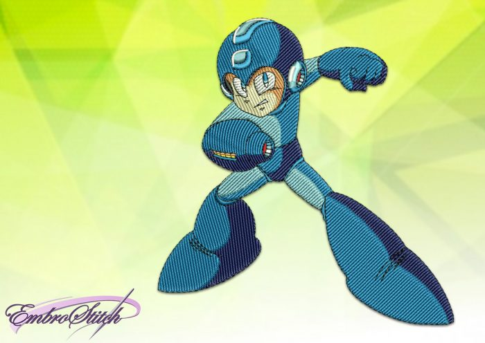 The embroidery design Mega Man is a very popular video game character
