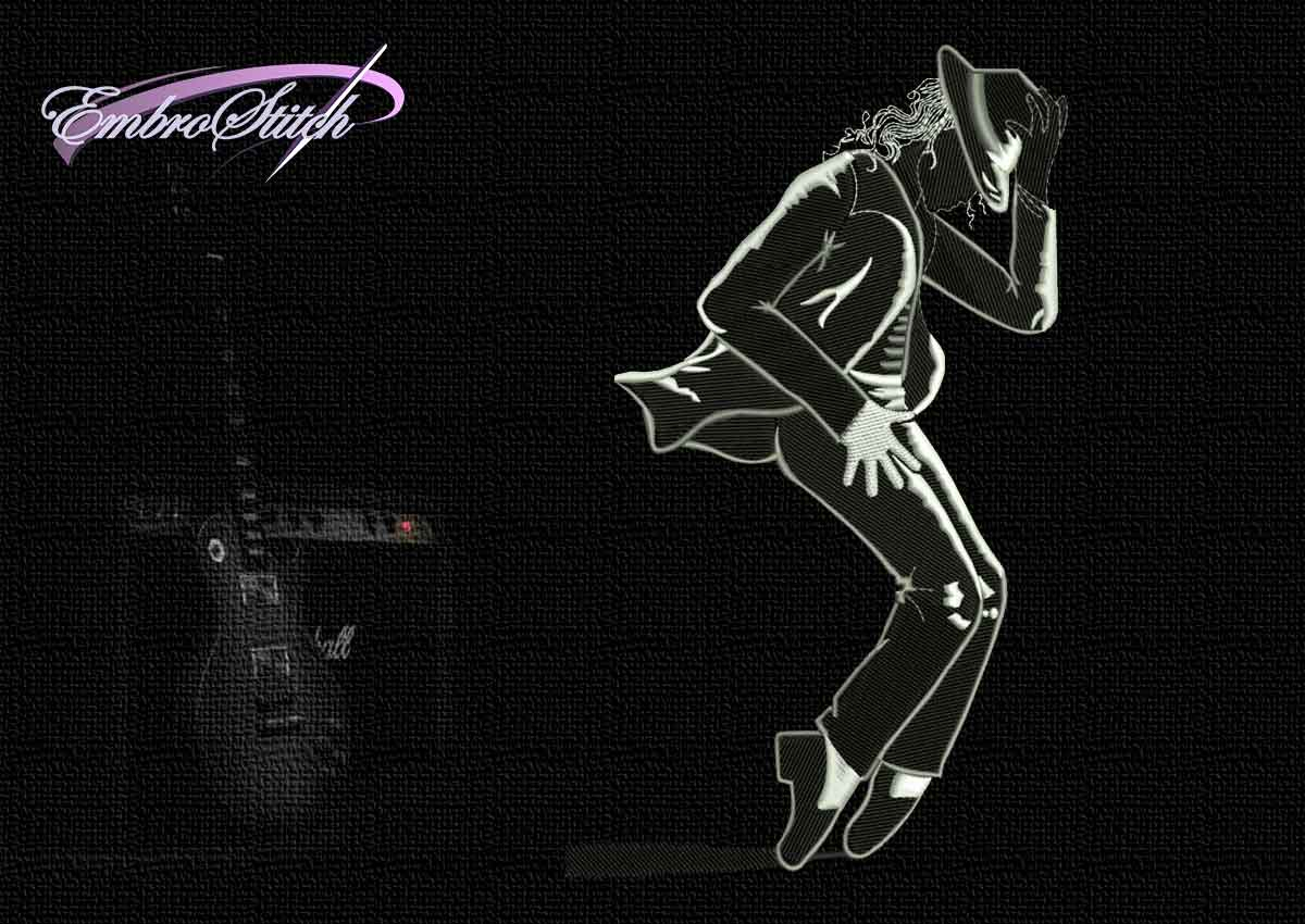 Michael Jackson Toe Stand Embroidery Design, 4 sizes