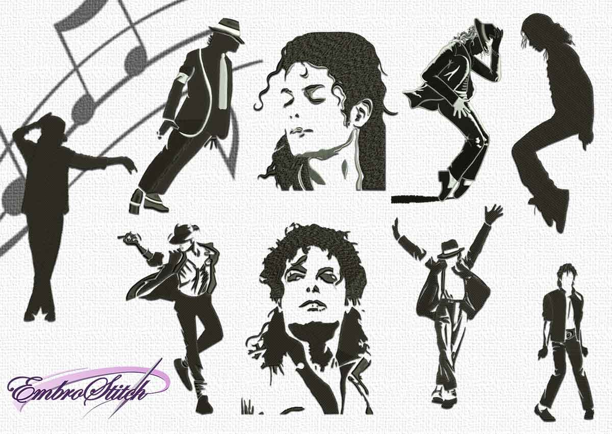 The pack embroidery designs Michael Jackson