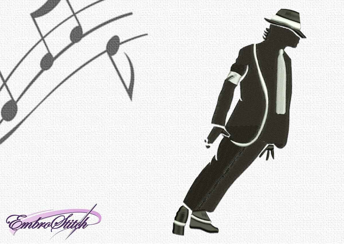 The embroidery design Michael Jackson