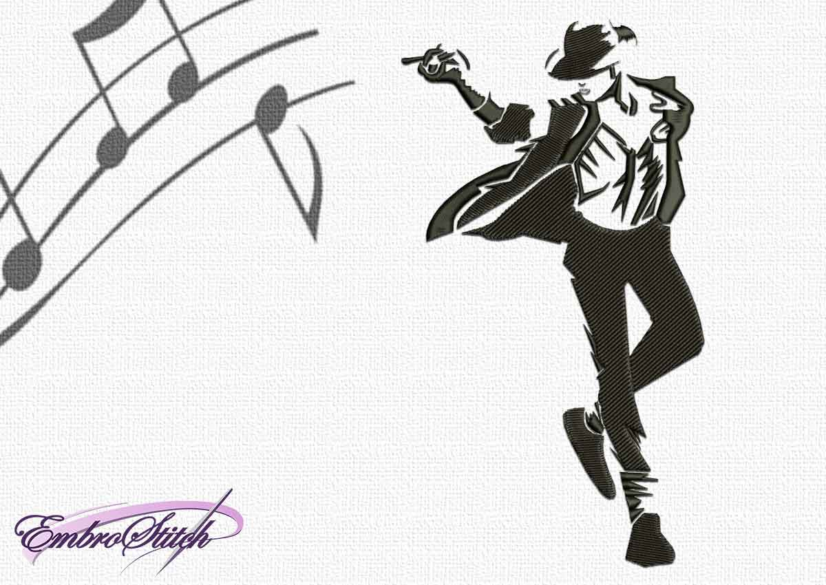 The embroidery design Michael Jackson on concert