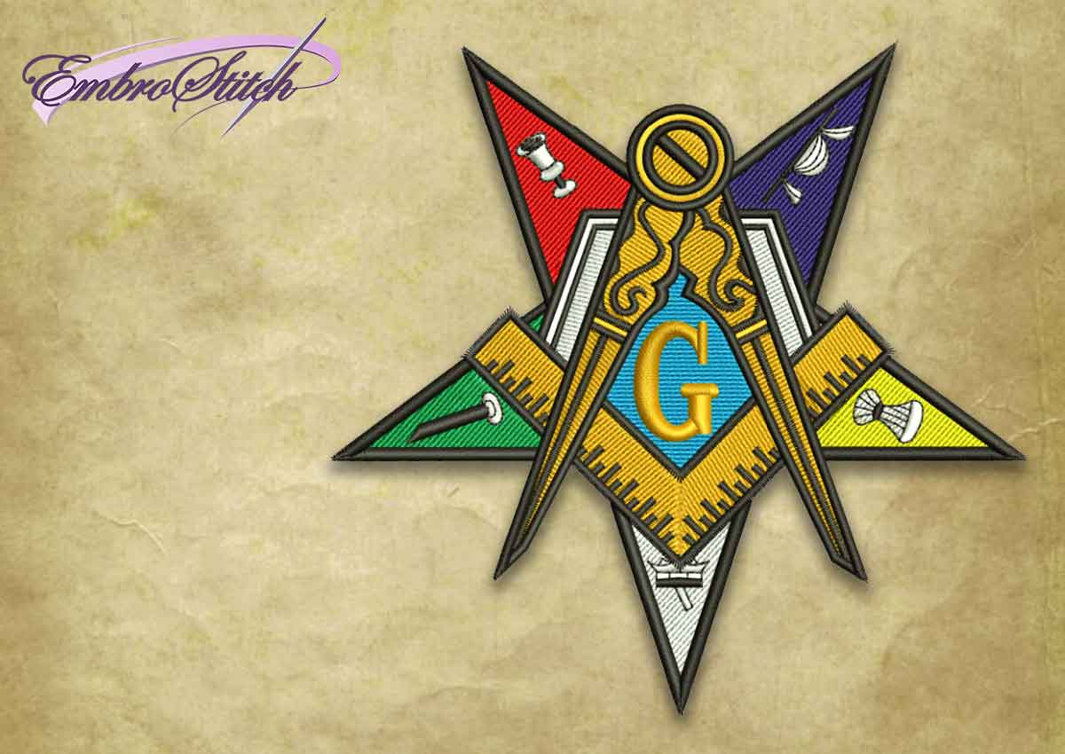 The embroidery design OES star