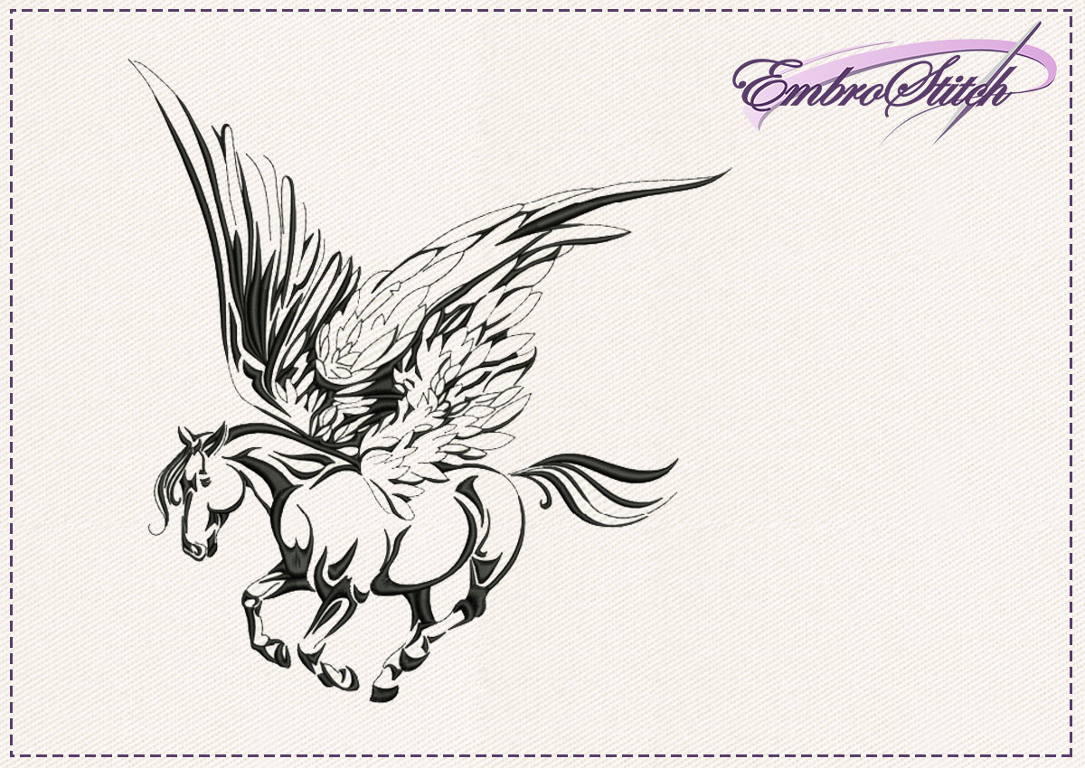The embroidery design Pegasus