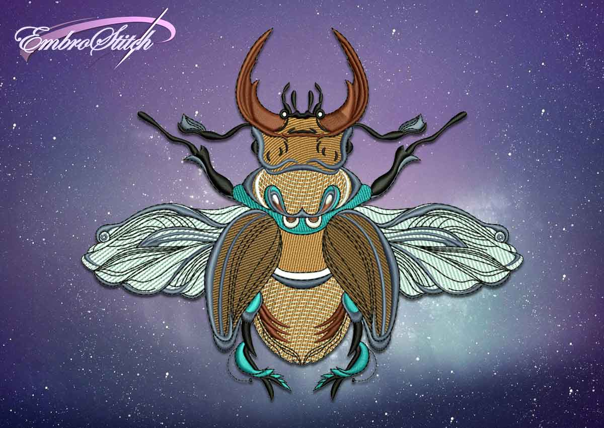 The embroidery design Picturesque stag beetle