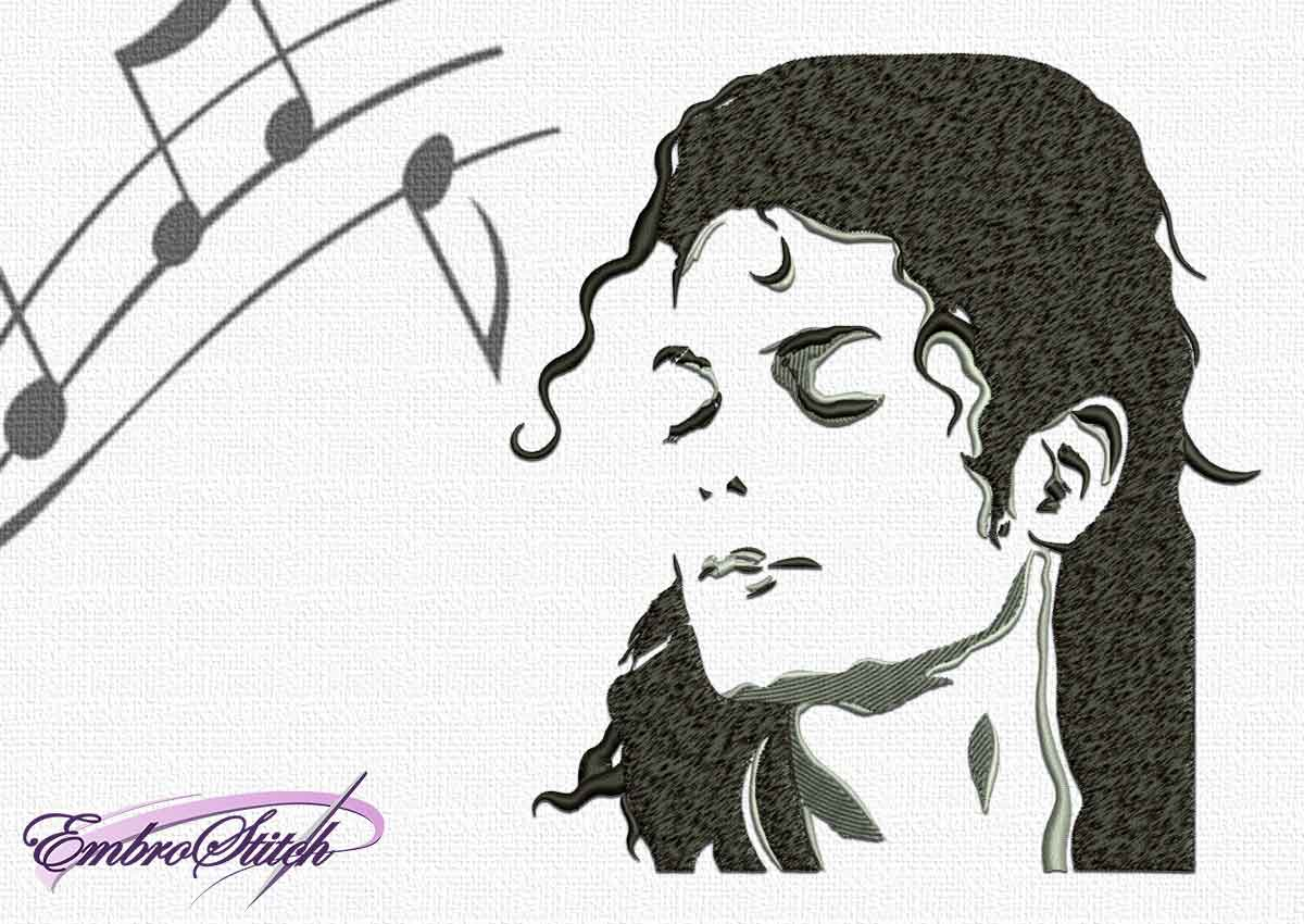 The embroidery design Portrait of Michael Jackson