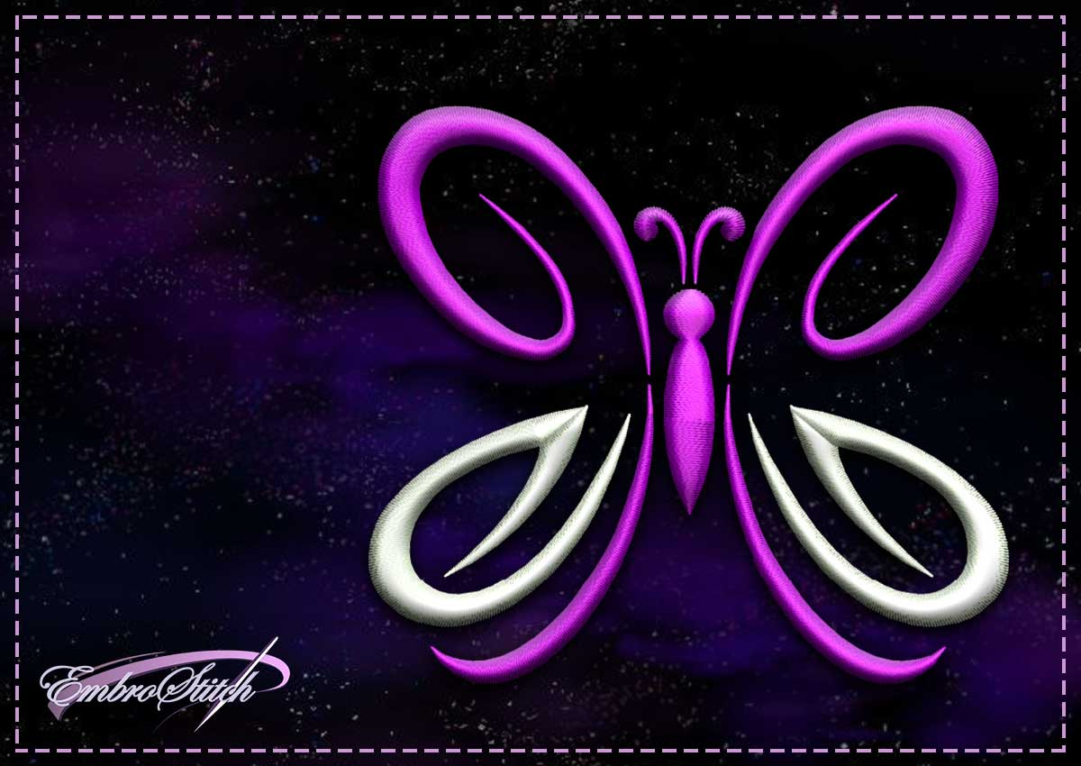 The embroidery design Purple butterfly