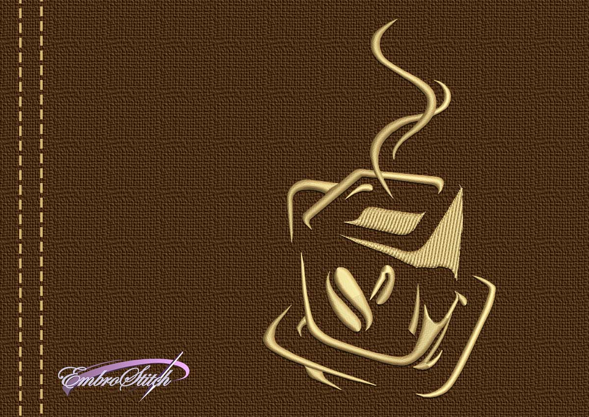 The embroidery design Rectangular cup