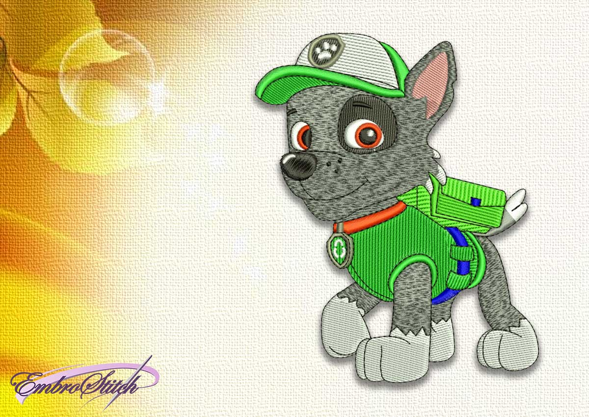 The embroidery design Dog Rocky from Paw patrol